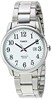 Timex Men's TW2R23300 Easy Reader Silver-Tone/White Stainless Steel Bracelet Watch