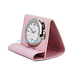 MONTBLANC BOHEME PINK LEATHER TRAVEL ALARM CLOCK WATCH SWISS 36987 NEW BOX