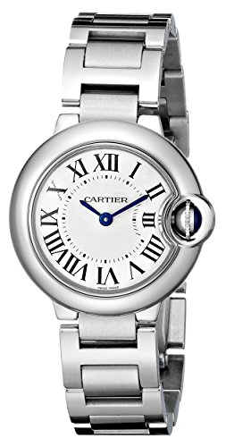 Cartier Womens W69010Z4 Ballon Bleu Stainless Steel Dress Watch