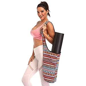Bolso para colchoneta de yoga, Bolso para colchoneta de colchoneta para yoga, Bolso para colchoneta de yoga estilo bohemio con bolsillo grande ...