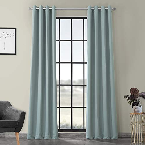 HPD HALF PRICE DRAPES BOCH-164712-108-GR Grommet Blackout Room Darkening Curtain, 50 x 108, Juniper Berry (Berry Curtains)