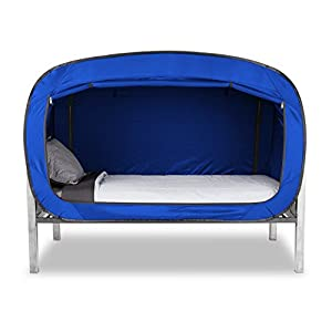 Amazon Com Privacy Pop Bed Tent Twin Blue Toys Amp Games