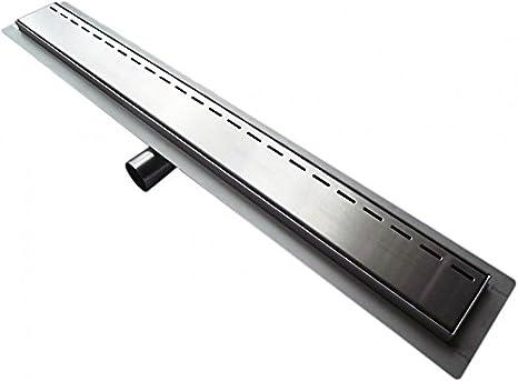 Longueur du drain de la douche:800mm Caniveau de sol grand d/ébit pour douche plain pied G014 longueur s/électionnable