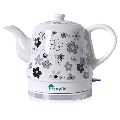 SMYLLS Electric Ceramic Kettle Coffee Teapot, Fade Color (Ceramic Teapot Small compare prices)