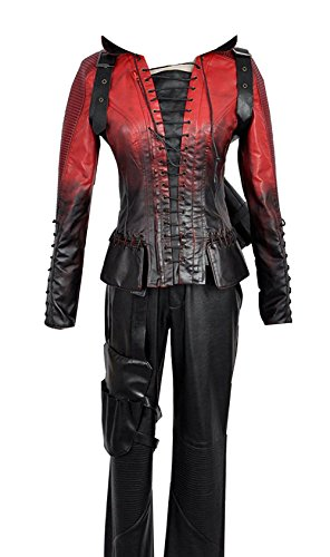 Green Arrow Battleframe Cosplay Costume (Small, Red Thea Queen Female)