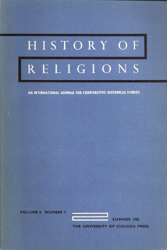 History of Religions An International Journal for Comparative Historical Studies Volume 5 Number 1