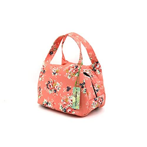 2d566998c523 chic wonderful flower Reusable lunch bags for women Insulated Lunch ...