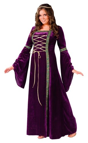 Fun World Costumes Plus-Size Funworld Deluxe Renaissance Lady, Purple, 16W-24W(Plus -