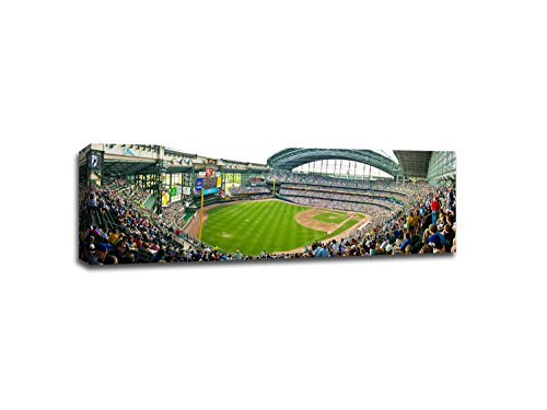 Miller Park - Baseball Field - 48x16 Gallery Wrapped Canvas Wall Art