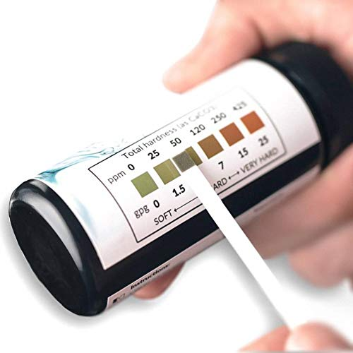 Premium Water Hardness Test Kit - Quick and Easy Hard Water Test Strips for Water Softener Dishwasher Well Spa and Pool Water | 50 Strips at 0-425 ppm | Calcium and Magnesium Total Hardness Test