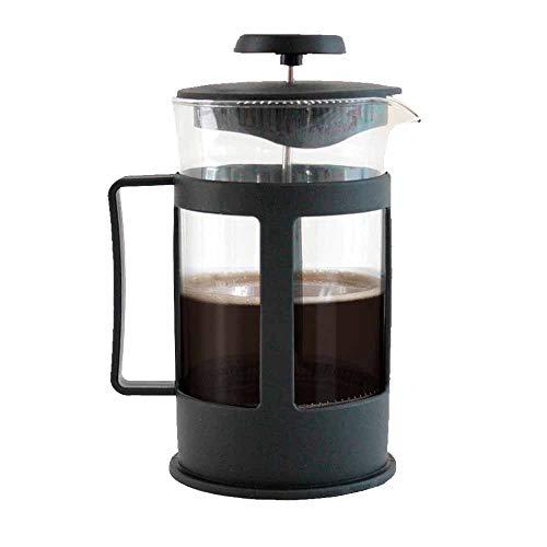 Cafetera Prensa Francesa de 1L vidrio tipo embolo french press ideal para compartir un cafe gourmet para 8 tazas ... (Negro1)