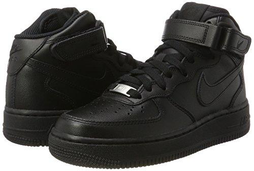 '07 Black Nike Baskets Force 1 black 001 Femme Mid Noir Hautes Air tqvv1wf