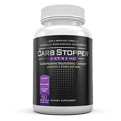 Carb Stopper Extreme: Maximum Strength, All-Natural Carbohydrate and Starch Blocker Weight Loss Supplement | Absorb Fat with White Kidney Bean Extract Diet Pills & Starch Blocker Pills, 60 Capsules