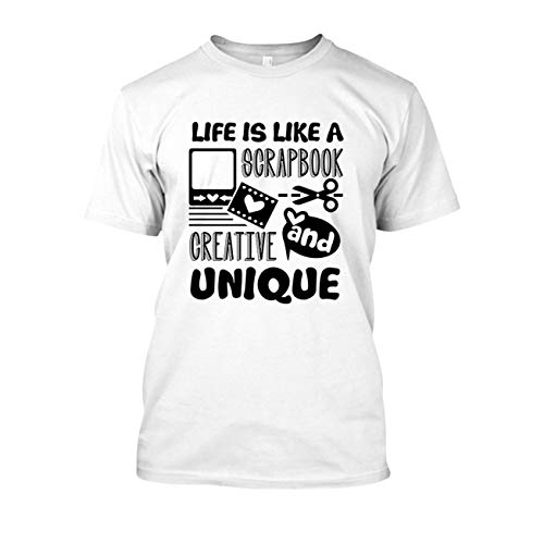 21ca24172 Cool Life is Like A Scrapbook T Shirt, Tshirt Gift Idea, Shirt White,