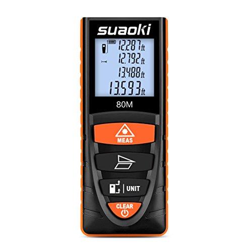 Suaoki Digital Laser Tape Measure 262 Ft Measuring Device With Single Continuous Measurement