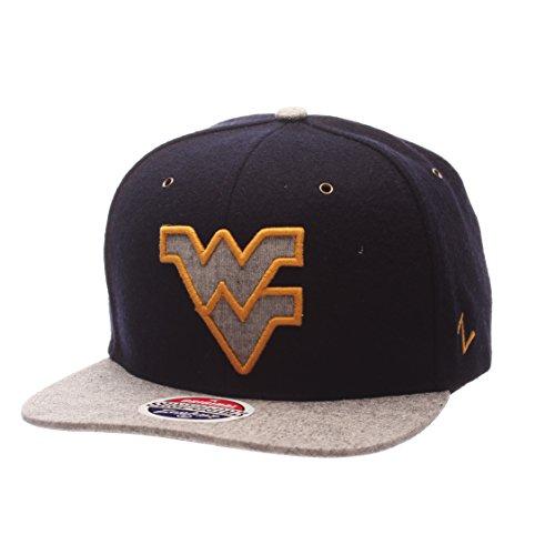 - ZHATS NCAA West Virginia Mountaineers Adult Men's Executive Snapback Hat, Adjustable Size, Team Color/Gray