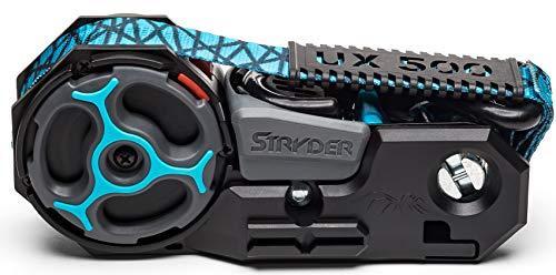 Stryder UX500-01A Retractable Ratchet Tie Down Straps: 12′ x 1″, 500 lb Working Load Limit / 1500 lb Break Strength