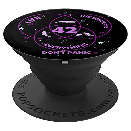 42 Answer to Life Universe Everything - PopSockets Grip and Stand for Phones and Tablets