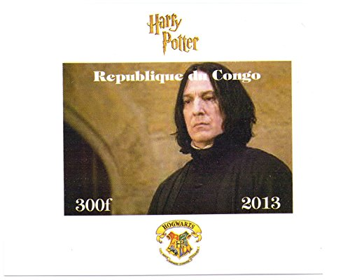 Harry Potter stamps for collectors - Professor Snape imperforate miniature stamp sheet (Imperforated Sheet)