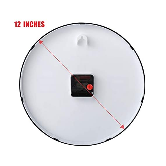 """Plumeet Silent Wall Clocks - 12"""" Non-Ticking Quartz Large Decorative Clocks - Big 3D Number Good for Living Room Home Office Battery Operated (White) - Wall Clock for Bedroom -- Large black numbers bulged out over white dial face, super quiet, easily to see and read 12'' diameter round frame. Eye Catching Numeric -- Four extra large 3D numbers makes it easier to read from any corner of your room. Super Silent -- Precise quartz movements to guarantee accurate time, quiet sweep second hand ensure a good sleeping and work environment. - wall-clocks, living-room-decor, living-room - 41q zqyhzdL. SS570  -"""
