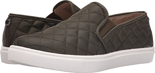 Steve Madden Women's Ecentrcq Sneaker, Olive, 8 W ()