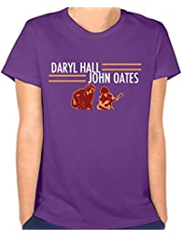 Women's Daryl Hall and John Oates Tour Leisure Hiking Purple Tee Short Sleeve