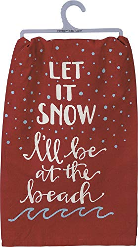 (Primitives by Kathy Beach Holiday Dish Towel, Let It Snow)