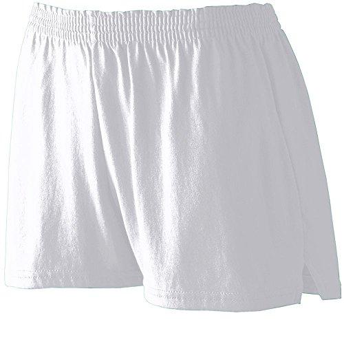 Waist Elastic Canvas Shorts (Augusta Sportswear WOMEN'S JUNIOR FIT JERSEY SHORT 2XL Athletic Heather)