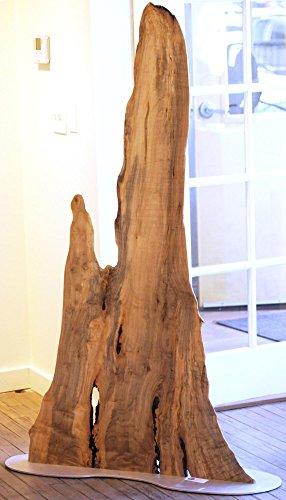 The Summit - Original Wood Art Contemporary Floor Sculpture Wooden Lodge Decor Modern Nature Art by Renowned Artist Adam Schwoeppe by The Fringe Gallery