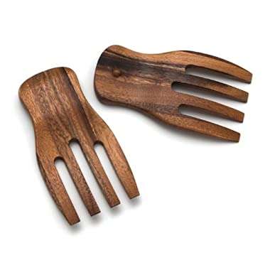 Lipper International 1102 Salad Hands, Acacia