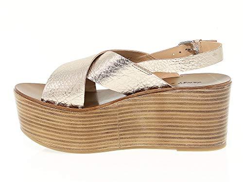 amp;janet De Janet 39200 Mujer Oro Zapatos Cuero Cuña RwqzTfw