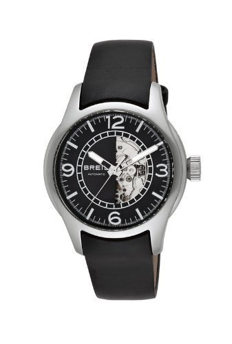 Breil Men's Watch TW0777 Black Dial Leather Band