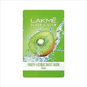 Lakmé Blush & Glow Kiwi Sheet Mask, 20 ml/25 ml (Item weight may vary)