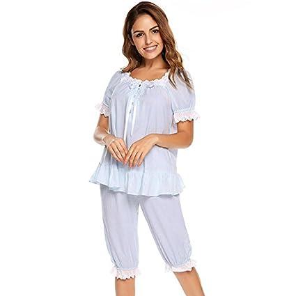 WDDGPZSY Camisa De Dormir/Camisón/Ropa De Dormir/Pijamas/Vintage Pijama Conjunto