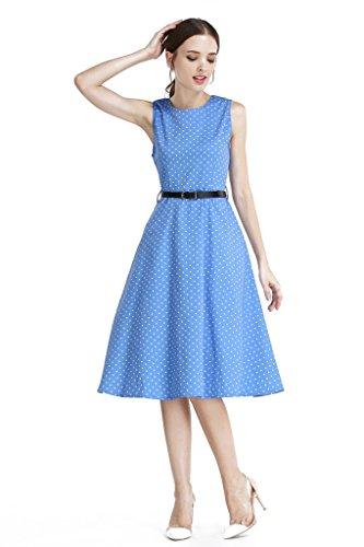 Buy light blue 50s dress - 4