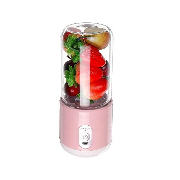 260ml portatile elettrico tazza di succo di miscelazione a sei lame USB frullati ricaricabili frullatori per alimenti… 2 spesavip