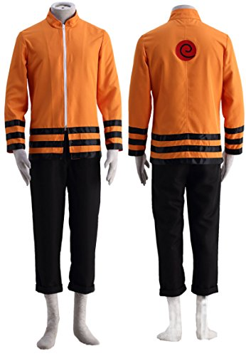 OURCOSPLAY Thev Movie Uzumaki Naruto Boruto Halloween Cosplay Costume 2Pcs Coat and Pants