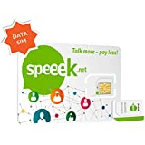Speeek DATA Prepaid SIM with $8 Credit for GPS Tracking Devices (Car, Bike, Asset, Pet, Child, Senior Locator, Smart Watch) or Home Alarms – Data Packs starts at $3/month valid in USA & CAN