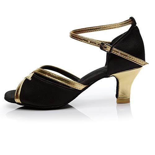 Sandales Talons Et Femme Boucle Hauts Lanskirt Latine Chaussures De À Ceinture Noir Danse Z8AvBgWn