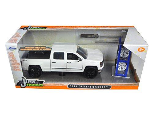 2014-chevrolet-silverado-z71-pickup-truck-white-just-trucks-with-extra-wheels-1-24-by-jada-98025