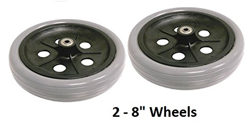 Wheels (Pair) 8'' For ''New'' Nova 4202 Rollator - NV-P42085x2