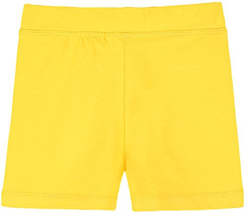 Yellow Spandex - Lovetti Girls' Basic Solid Soft Dance Short for Gymnastics Or Under Skirts 9 Yellow