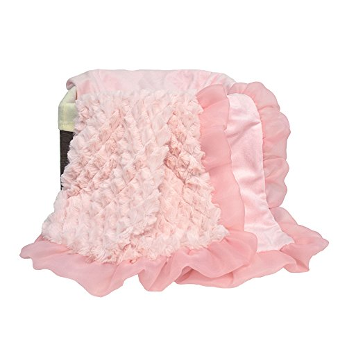 Arianna Plush Pink Blanket by The Peanut Shell