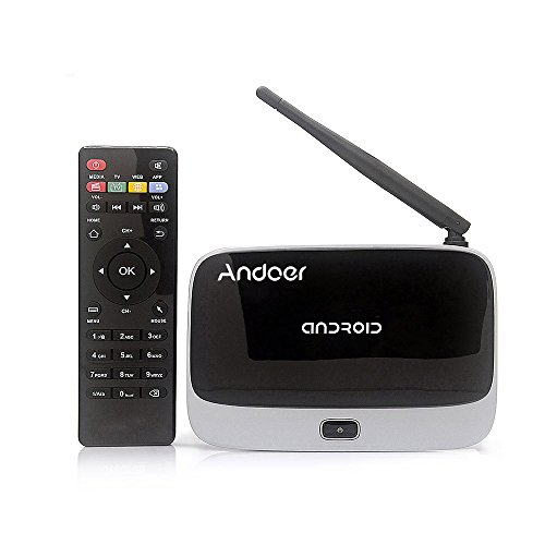 Andoer CS918 1080P Smart Android 4.4 TV Box Rockchip RK3188T 2G / 32G HDMI Mini PC H.264 DLNA Miracast Airplay WiFi OTG Bluetooth 4.0 Smart Multimedia Player with Remote Controller