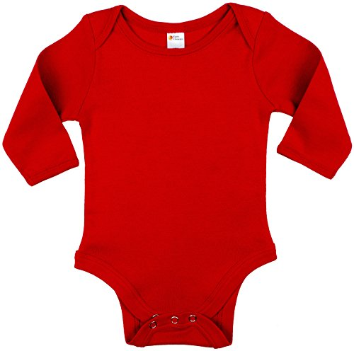Red Infant Onesie - Earth Elements Baby Long Sleeve Bodysuit 3-6 Months Red