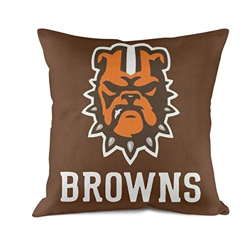 FPFLY 18x18 Inch Square Throw Pillow Cushion Covers Cotton Home Decor Design Browns-Dogs- Throw Pillow Covers