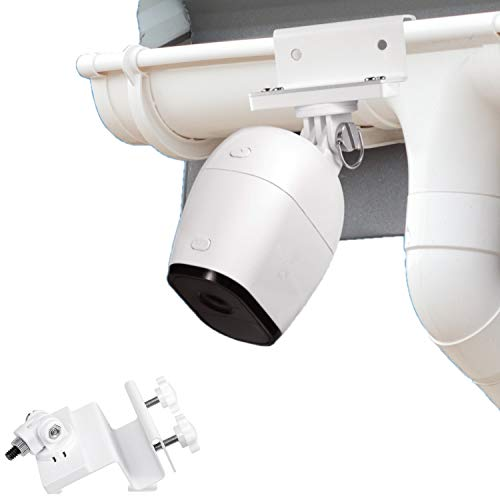 Wasserstein Weatherproof Gutter Mount compatible with Arlo Pro, Arlo Pro 2, and Arlo HD - Greater height for your Arlo Cameras (White)