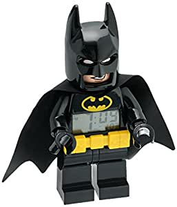 Lego 9009327 Reloj Despertador Batman Movie, Batman 7.5""