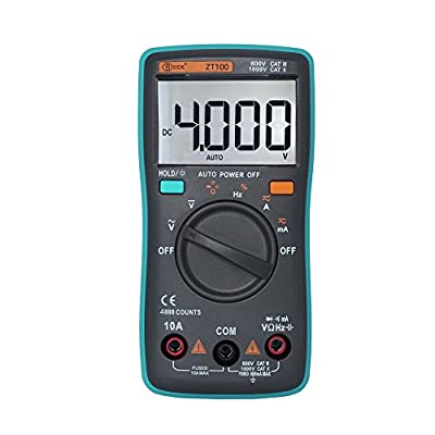 Digital Multimeter, Voltmeter Back Light Multi Tester Diode AC/DC Digital for Households Electricians, Backlight LCD Display