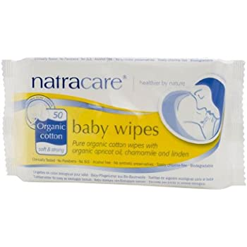 Natracare Wipe Organic Cotton Baby, 50 ct